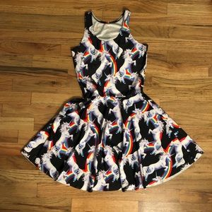 Unicorn rainbow dress RARE rave music fest pride